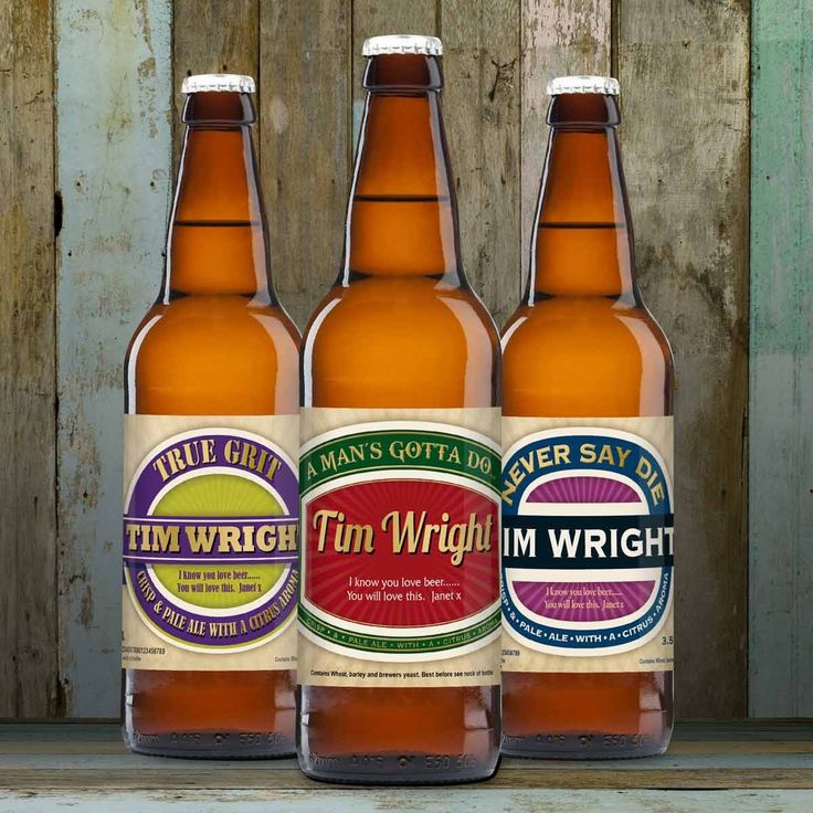 Triple Pack of Personalised Beer - Available from The Present Finder