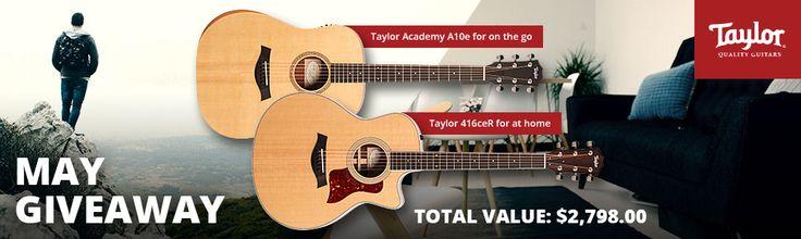 Enter to Win the AMS May Taylor Guitars Giveaway! WIN 2 GUITARS! ENTER AT:  http://woobox.com/24mprp/iuyaio