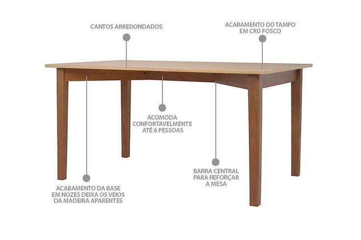 Deixe seus jantares ainda mais incríveis com uma mesa de jantar com 6 lugares! A Mesa de Madeira Mezuri é uma mesa retangular que combina dois tipos de madeira e funciona perfeitamente como mesa para cozinha ou mesa para sala de jantar.