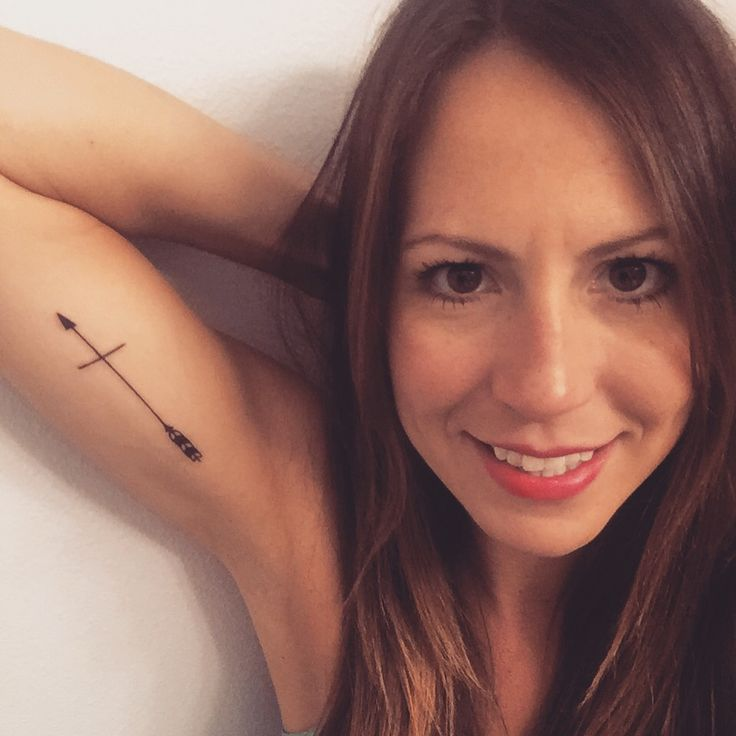 Arrow cross tattoo. Bright future. Move forward. Faith!