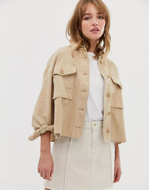 0dfcd2b2c867 Only cropped utility jacket in 2019