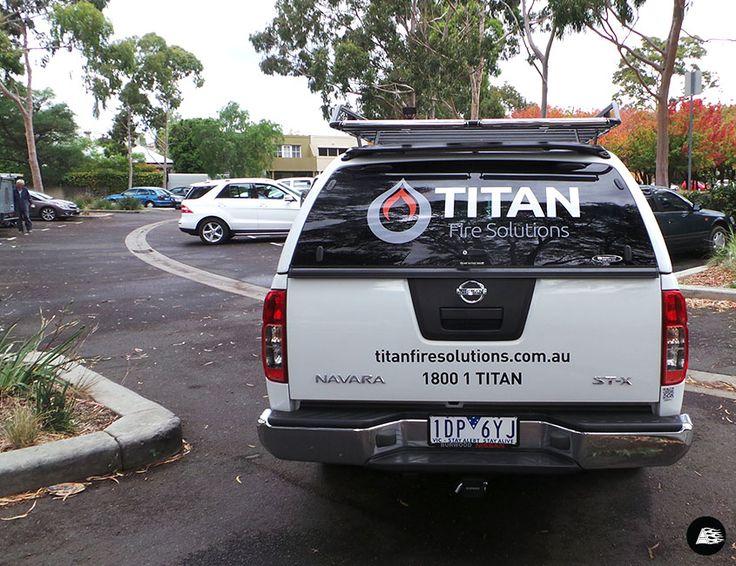Titan Fire Solutions | Nissan Navara Dual Cab Ute Graphics #vehicledecals #smallbusiness #tradie #caradvertising