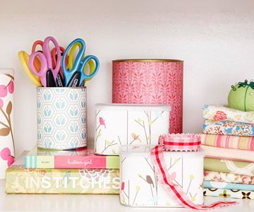 Re-purpose chip cans, coffee cans ect.: Organization, Crafts Rooms, Scrapbook Paper, Tins Cans, Diy, Storage Ideas, Coff Cans, Crafts Supplies, Soups Cans