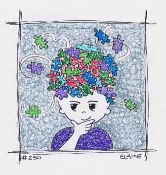 """Brain Clutter"" By Artist Elaine Butler Day 250"