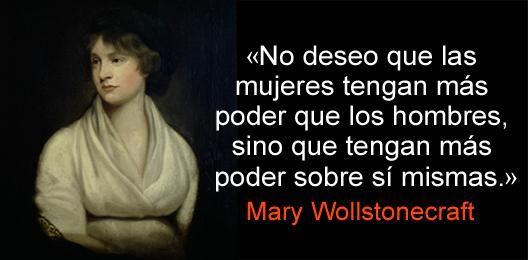 Mary Wollstonecraft (27/04/1759-10/11/1797), filósofa y escritora; una de las grandes figuras del mundo moderno.