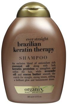Organix Brazilian Keratin Therapy Shampoo Organix Brazilian Keratin Therapy Shampoo 385ml An exclusive blend of antioxidant rich coconut oil along with lush keratin proteins to help strengthen and soften the hair, while avocado oil and cocoa http://www.MightGet.com/january-2017-12/organix-brazilian-keratin-therapy-shampoo.asp