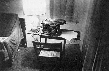 Bukowski's workspace, c. 1971, where the magic happened.