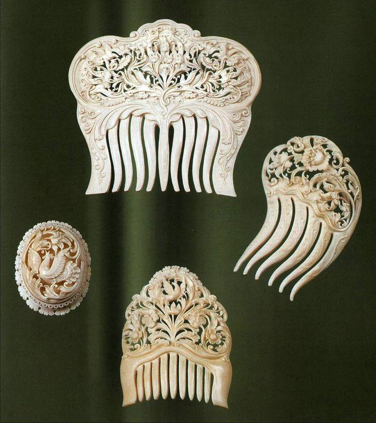 Холмогорская резная кость