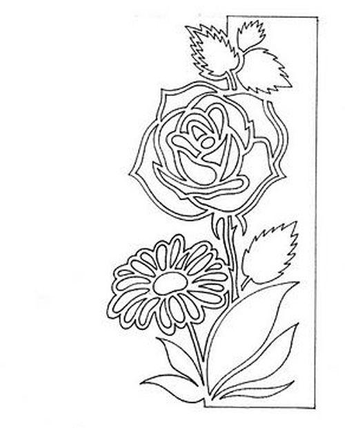 Приветик поцелуем, вытынанки цветы для открытки