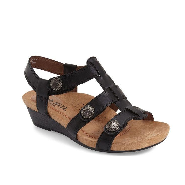 Cobb Hill Harper Adjustable Sandal (Black)
