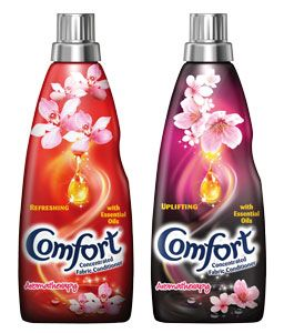 """Comfort Aromatherapy Fabric Conditioner  Comes in """"Refreshing"""" and """"Uplifting"""", try  this you wont be disappointed."""