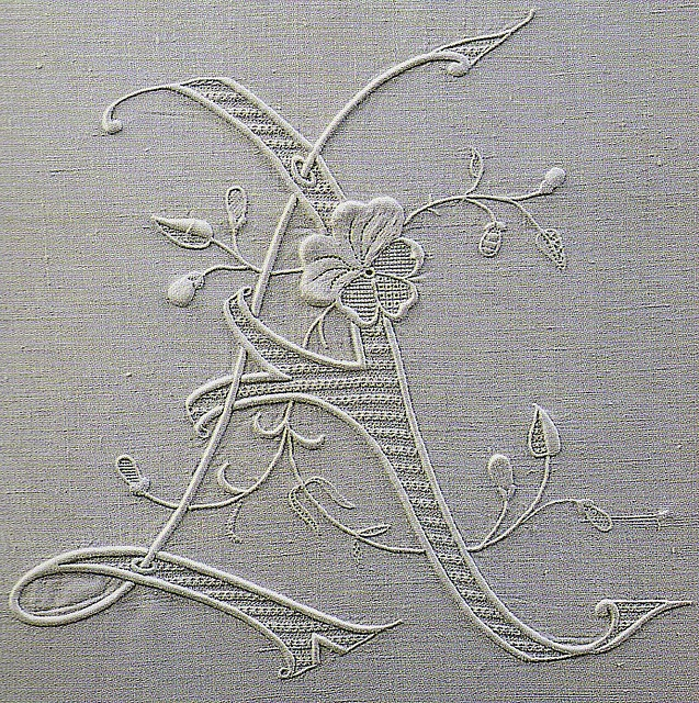 Lovely Embroidered Monogram! Letter A