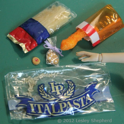 Make Miniature Cellophane Food Packaging for ScaleScenes