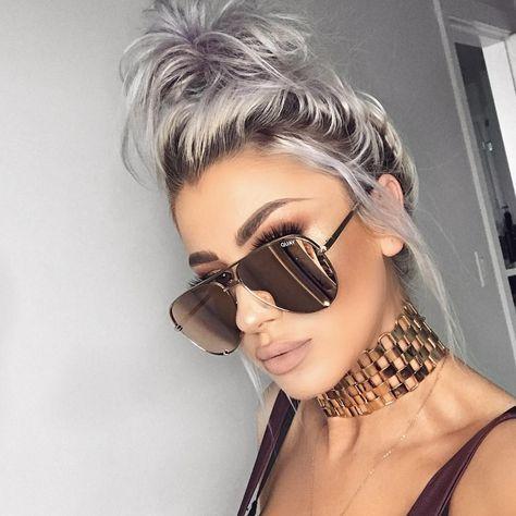 Instagram Baddie Makeup Aviator Sunglasses And Linked