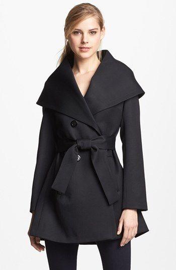Trina Turk 'Ali' Gabardine Wrap Coat