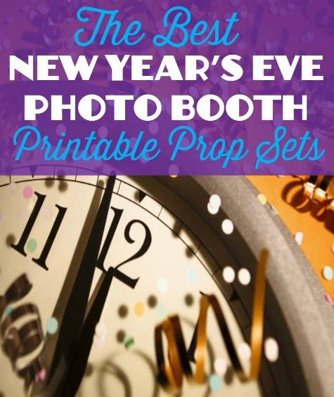 Photo Booth Props Printable Nye