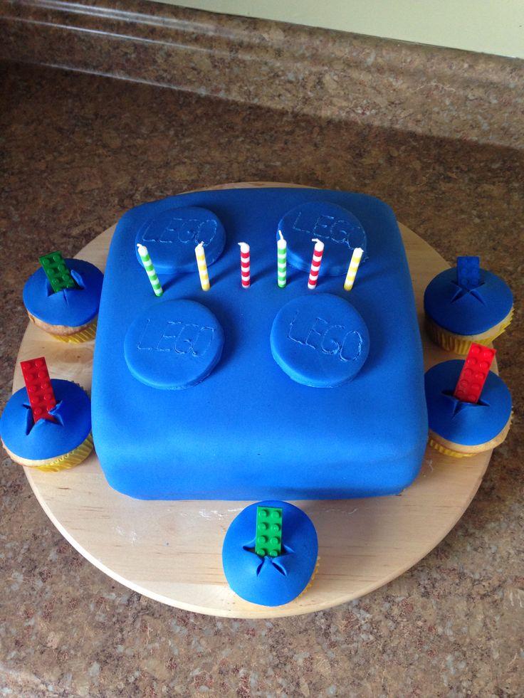 Lego brick bday cake!
