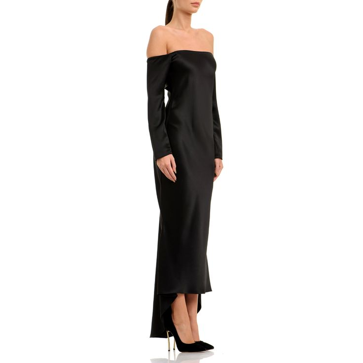 This silhouette is supremely modern, featuring no shoulders and relaxed fit. Style yours off-the-shoulder to reference the season's must-have silhouette. Black satin silk 100% silk Fluid textil Wash by hand The model is 176 cm tall and is wearing a size 36. If you need this product made to fit your needs and measures, book an appointment in our studio at i@laurahincu.ro for Private Fashioning.