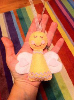 Felt handmade Christmas angel