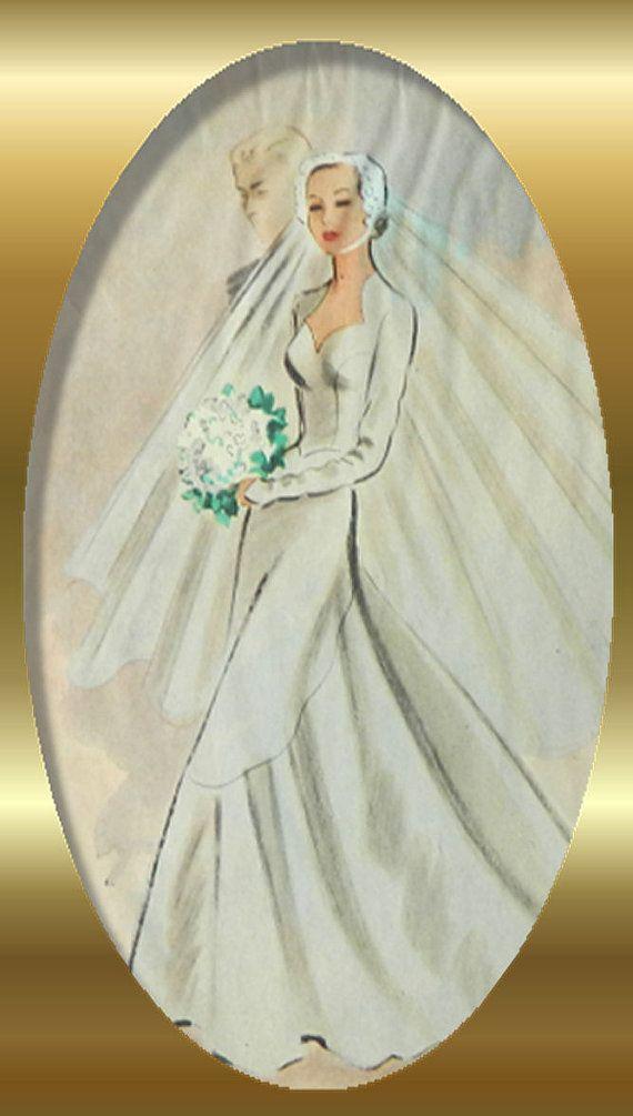 1948 fashion wedding or coat dress - McCall pattern styles, tailored dress - ad