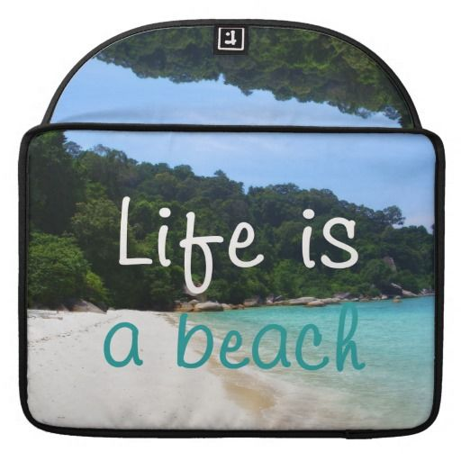 "A beautiful white sand beach surrounded by trees. Life is a Beach! / MacBook Pro Sleeve 13"" or 15"" #fomadesign"