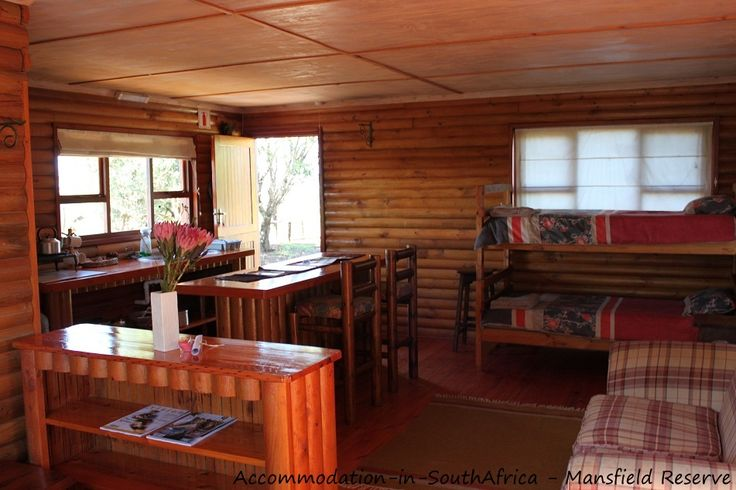 Beautiful log cabins at Mansfield Reserve. Accommodation Port Alfred.