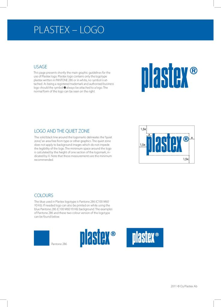 How to use Plastex-logo