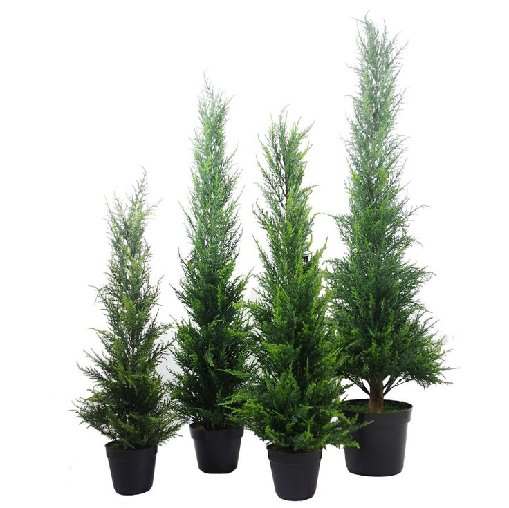 Large Realistic Artificial Cedar Cypress Conifer Topiary