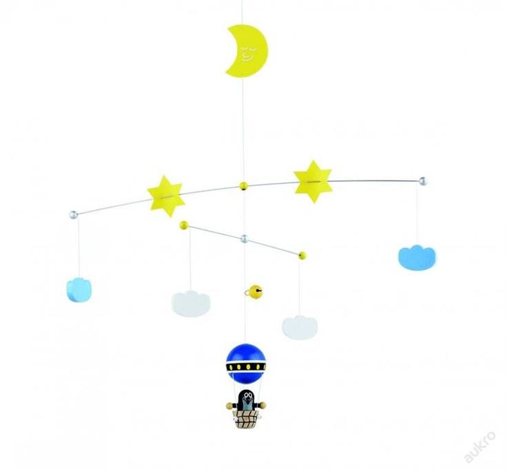 Krtek v balónu - závěs nad postýlku