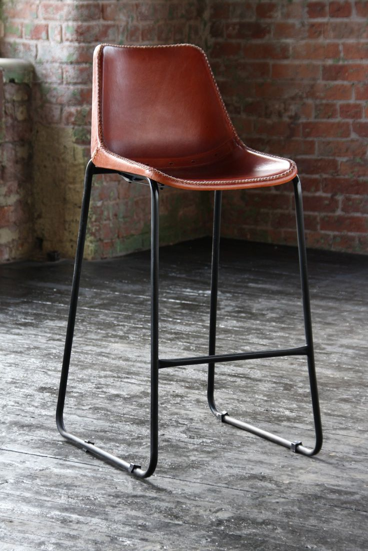 Road House Tan leather Bar Stool - Furniture