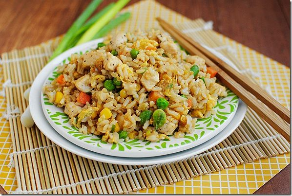 Easy Chicken Fried Rice: Brown Rice, Easy Chicken, Iowagirleats Com, Stir Fried, Chicken Fried Rice, Fried Rice Recipes, Easy Fried, Healthy Chicken, Iowa Girls Eating