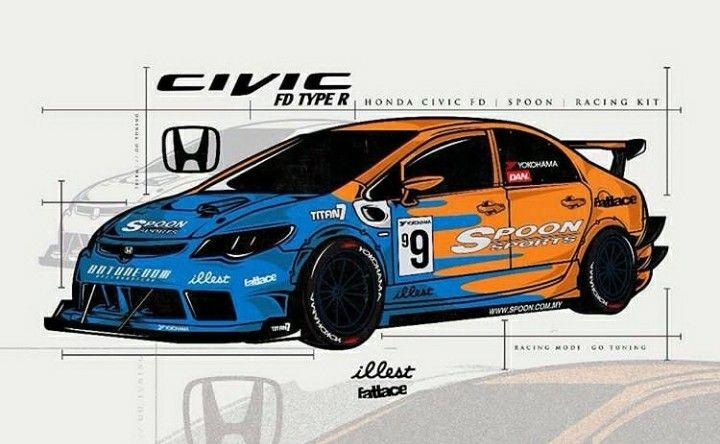 Rendering Of Spoon Sports' Time Attack FD2R