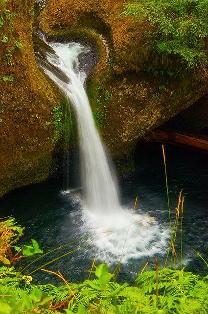 Closeup of Punchbowl Falls, Eagle Creek Trail, Colombia Gorge