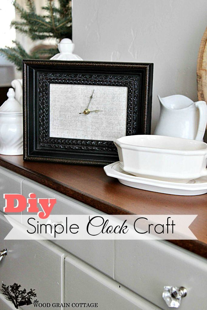 Diy Picture Frame Clock Craft - Home Decor or Gift Idea