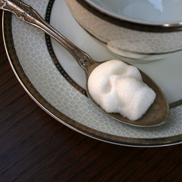 For your Halloween tea party  :: Sugar Cube Skulls ( Etsy:: http://www.etsy.com/listing/81753416/sugar-cube-skulls-1-bag-of-four-skulls# )