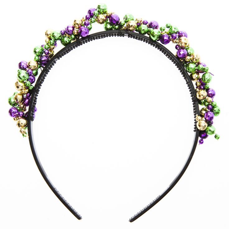Dress your best during Mardi Gras with the help of this Mardi Gras Beaded Headband!