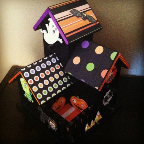 create a spooky house using an unfinished birdhouse and scrapbook materials great halloween project for - Halloween Craft Ideas For Adults