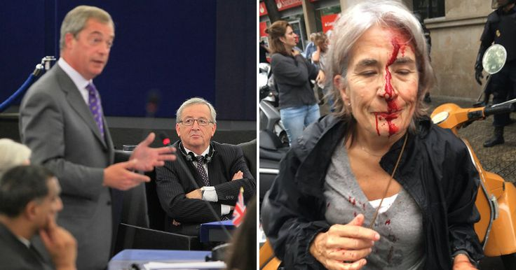 NIGEL FARAGE EXPLODES IN EU PARLIAMENT, CONDEMNS SILENCE ON SHOCKING BRUTALITY IN CATALONIA Brexiteer flames EU President for turning blind eye