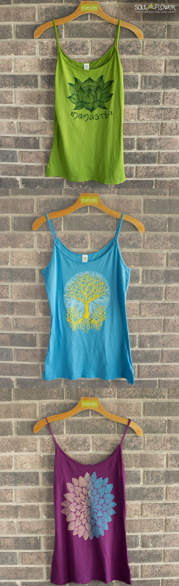 Organic Yoga Tank Tops - Soul Flower Clothing