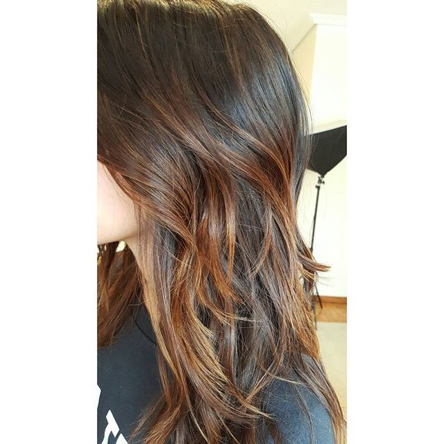 Hazelnut balayage #balayage #brunette #lights