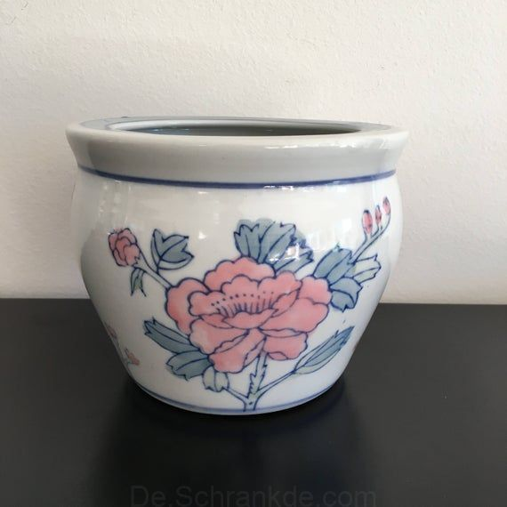 Vintage Oriental Pflanzkubel Keramik Blumentopf Dekoration Im