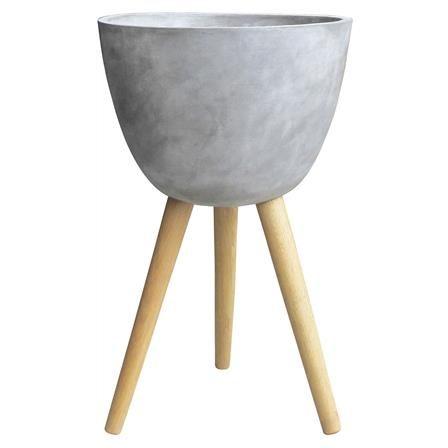 ACHICA | Nuvera Concrete Planter with Wooden Legs