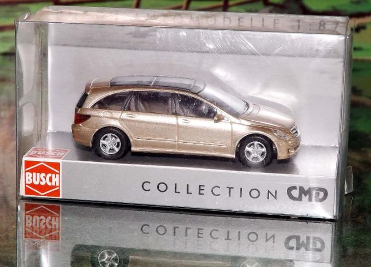"Busch Modellauto 49705 ""MB R-Klasse CMD Bj. 2006 goldmet."" in OVP wie neu"