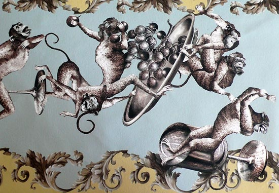 Marouflage by Zebo Ludvicek, drunken monkeys!Drunken Monkeys, Zebo Ludvicek, Interiors Ideas