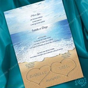 faire part mariage mer ocean mariage pinterest mariage and ocean. Black Bedroom Furniture Sets. Home Design Ideas