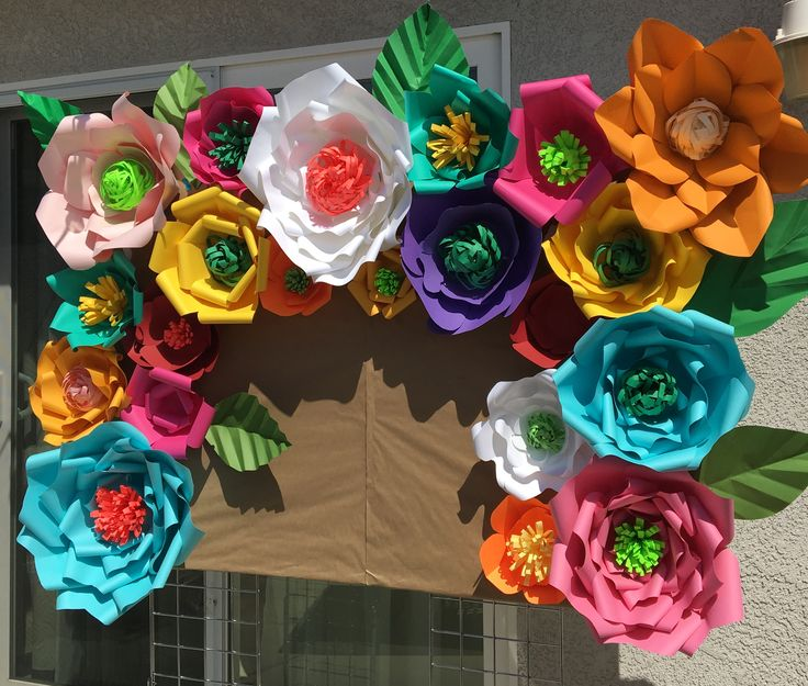 Mexican theme Fiesta Birthday Party Candy / Dessert / Cake and Photo booth Paper Flower Backdrop