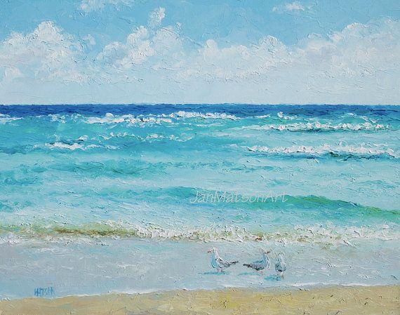 "Ocean oil painting ""Ocean Breeze"" #oceanpainting #beachpainting #seascape #coastaldecor"