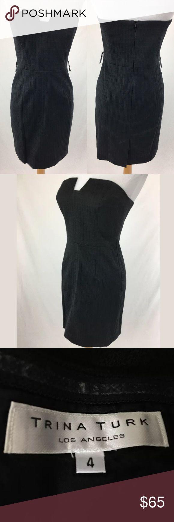 Trina Turk dress SKU: SD15815  Bust: 31 Waist: 28 Fabric Content: 97% Cotton, 3% elastane Length Bust to Hem: 28.75 Hip: 36 It has belt loops, but a belt is not included. Trina Turk Dresses