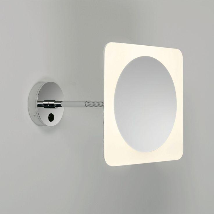 Wide illuminated adjustable mirror