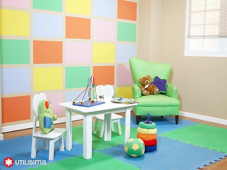Ambiente infantil multicolor. Por Luz Blanchet. Utilísima.